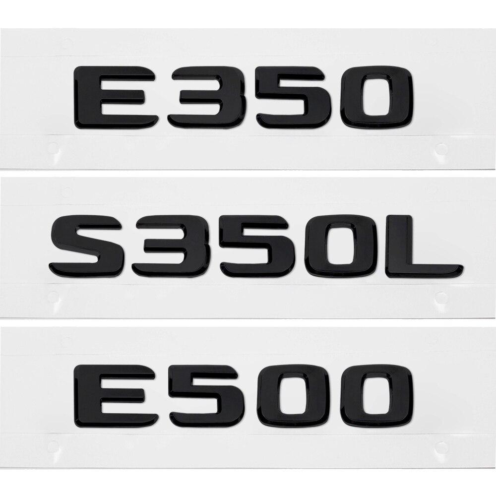 Emblema trasero para maletero de coche, pegatina ABS, color negro mate, E350,...