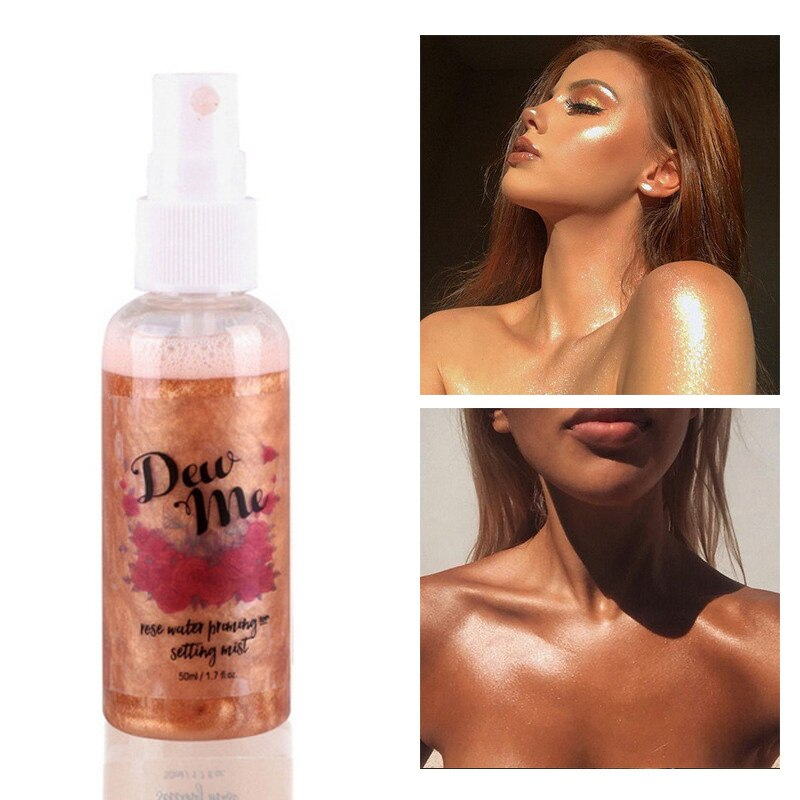 Pearlescent Highlighter Bronzer Liquid Setting Spray Illuminating Face Body Moisturizing Shimmer Brighten Highlight Makeup недорого