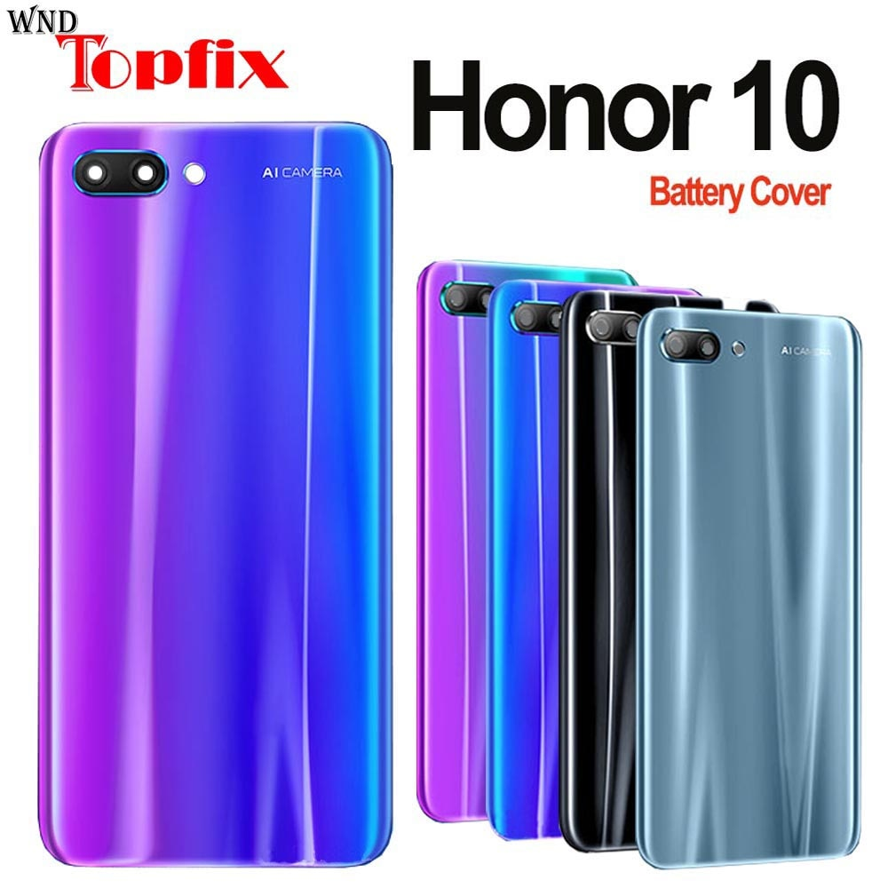 For Huawei Honor 10 Back Battery Cover Door Rear Glass Housing Case For Honor10 Battery Cover For Ho
