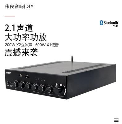 BRZHIFI BA3 1000 واط فئة تناظرية نقية أ و B HIFI عالية الطاقة 2.1 حمى مكبر كهربائي بلوتوث 5.0