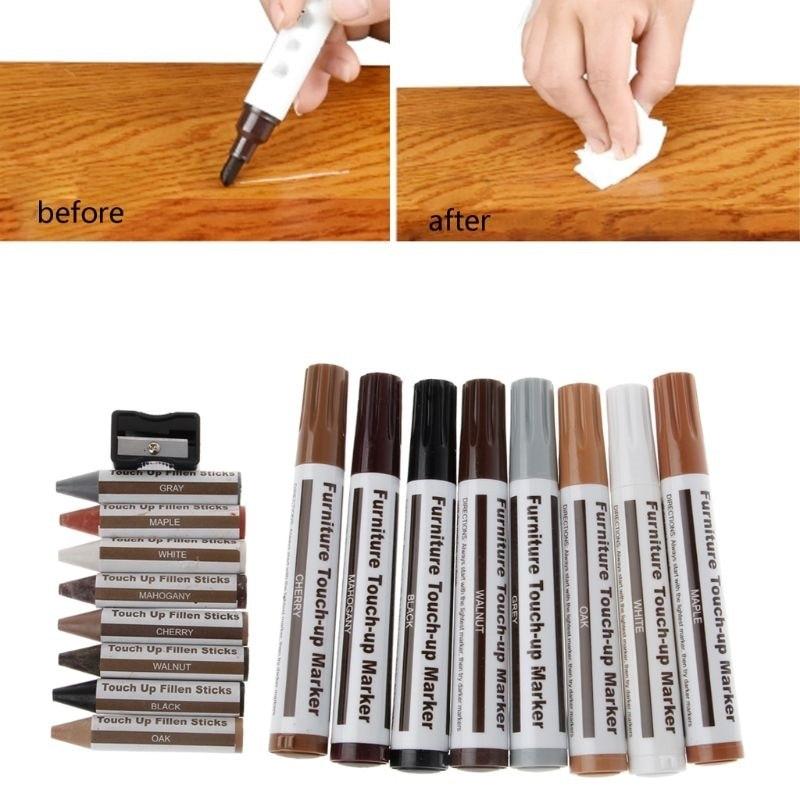 Ручка-маркер для ремонта мебели, наполнитель для царапин, средство для удаления краски, набор для удаления деревянных царапин, для деревянн...
