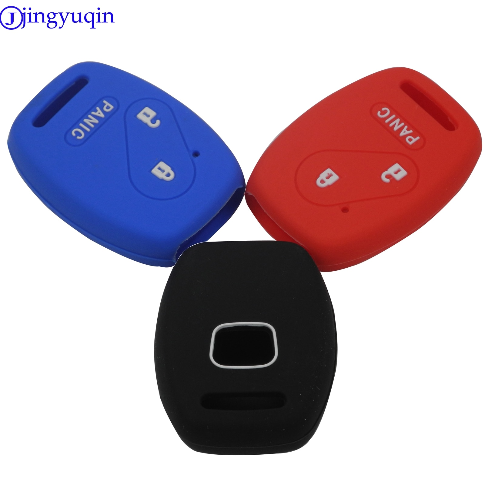 jingyuqin 2/3 Buttons Remote Silicone Key Cover Case for Honda fit INSIGHT Civic Accord CR-V Ridgeline Car-Styling