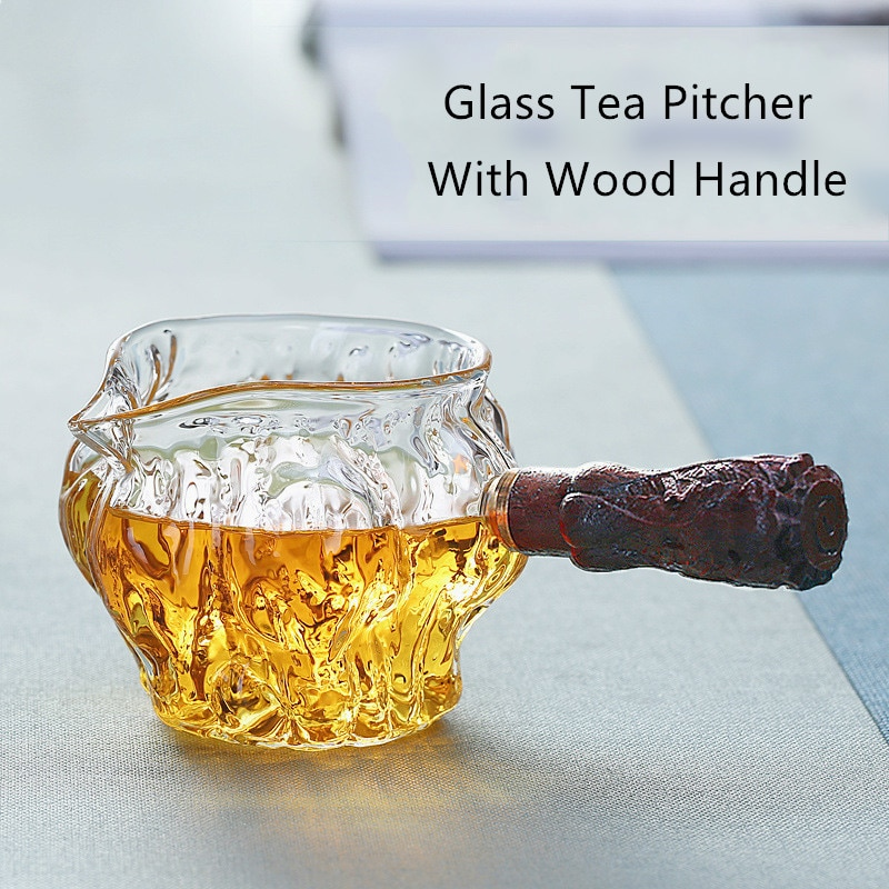 Seite Griff Glas Tee Krug Chinesischen Tee Ware Tee Teiler Chahai Wärme-Wider Borosilikatglas Tee Tasse Kaffee Milch topf