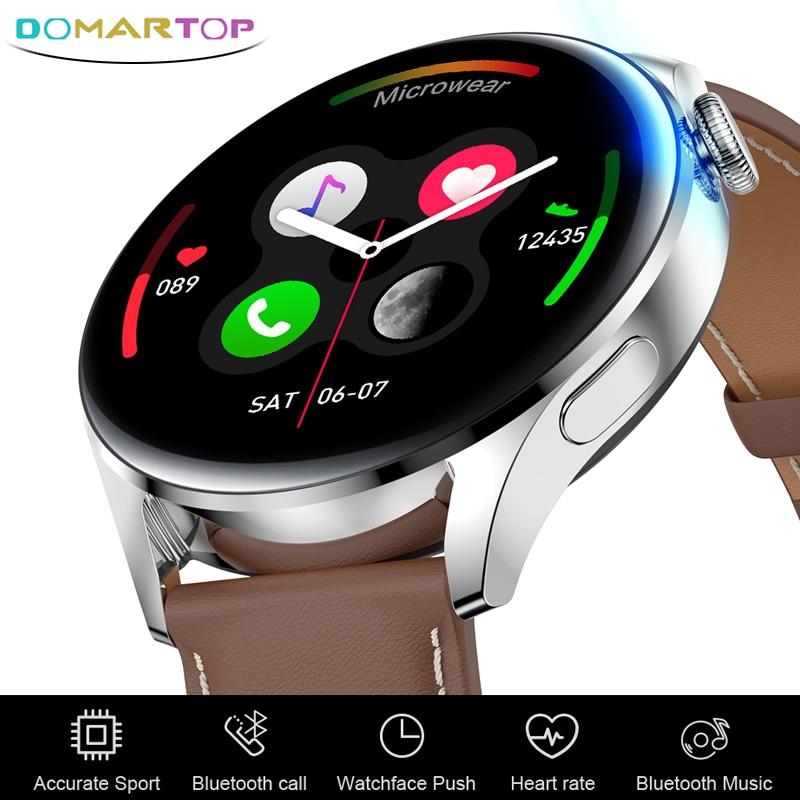 جديد Smartwatch ساعة ذكية الرجال ارتداء 3 بلوتوث دعوة رسالة الموسيقى Watch بها بنفسك ساعة الوجه الرياضة اللياقة البدنية ساعة لهواوي ساعة 3 برو