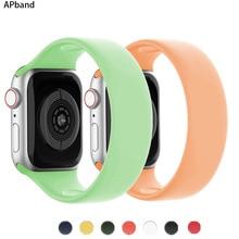 Correa de silicona para Apple Watch, banda elástica de 44mm y 40mm para iWatch de 38mm y 42mm, para Apple watch serie 5/4/3/SE/6