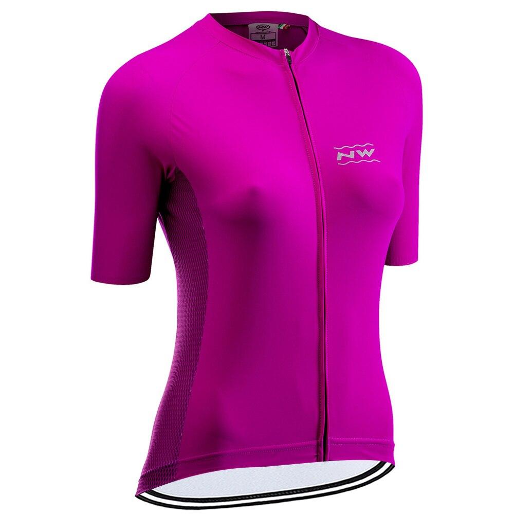 Nw feminino 2020 nova camisa de ciclismo corrida sportwear manga curta ciclo topos mtb bicicleta camisa ropa ciclismo roupas northwave