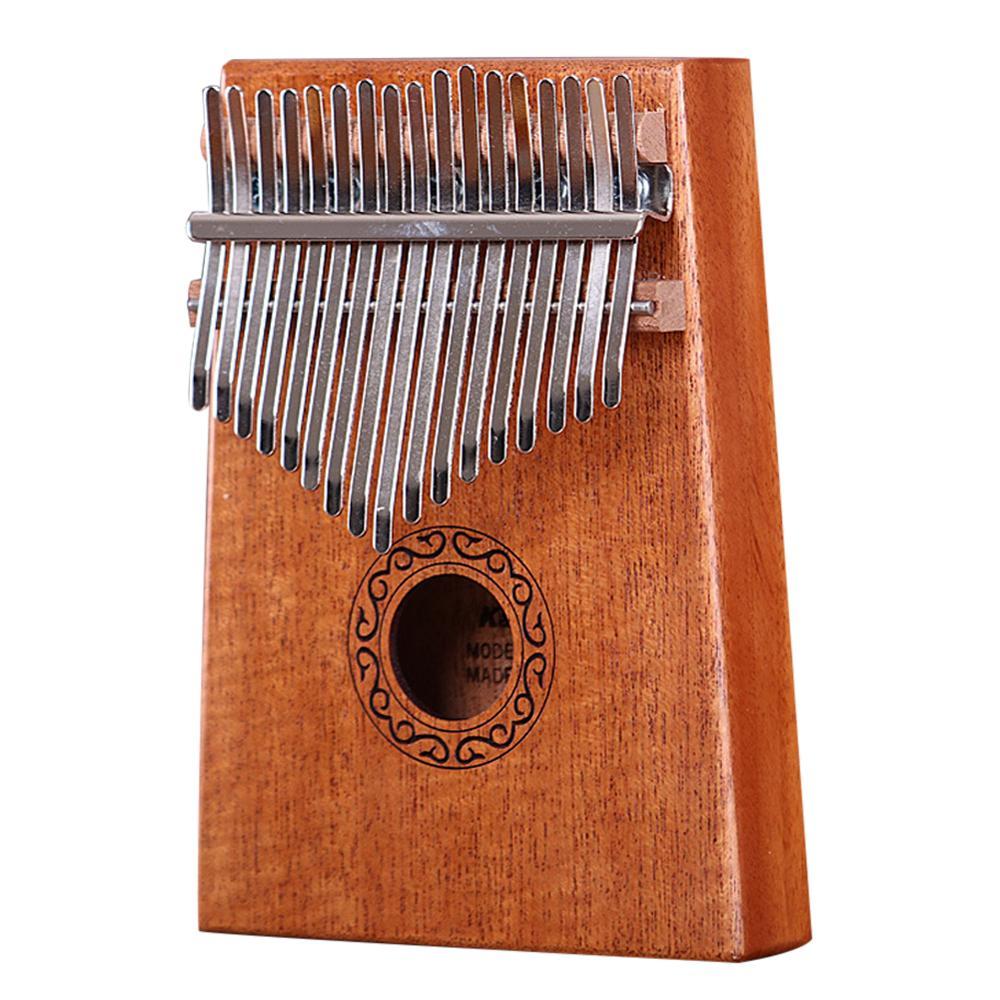 17 Key Kalimba Mahogany Thumb Piano Finger Mbira Reindeer Bag Xmas Gift