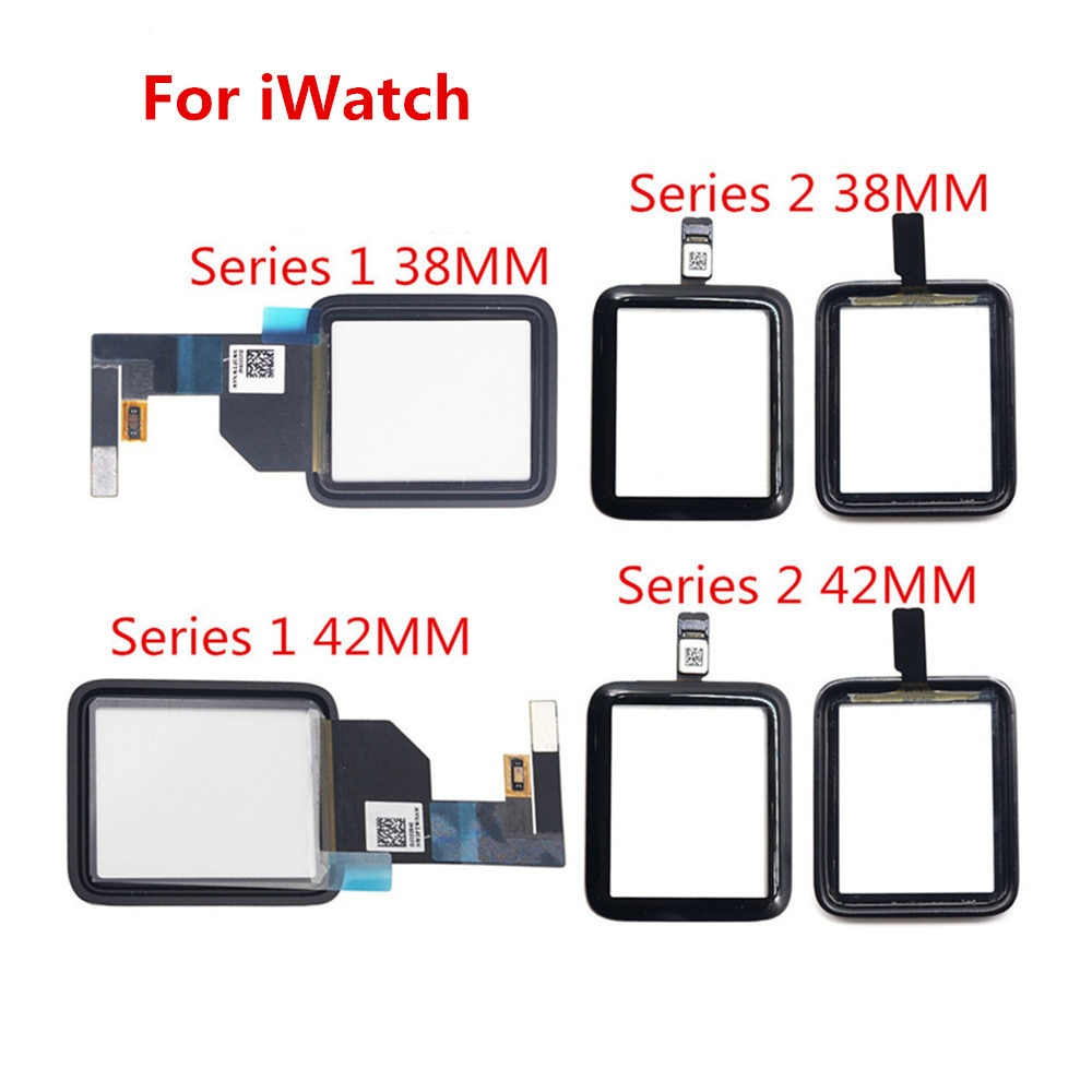 100% Tested New 38mm 42mm For Apple Watch Series 1 2 Touch Screen Digitizer Outer Glass Assembly Replacement