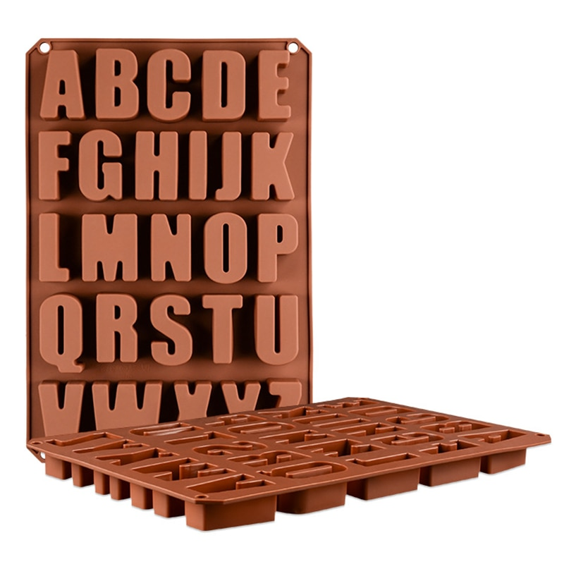 قوالب للشوكولاتة الحروف سيليكون المعجنات كعكة قوالب مخبوزة الحلويات أدوات اكسسوارات لوازم الصابون فندان