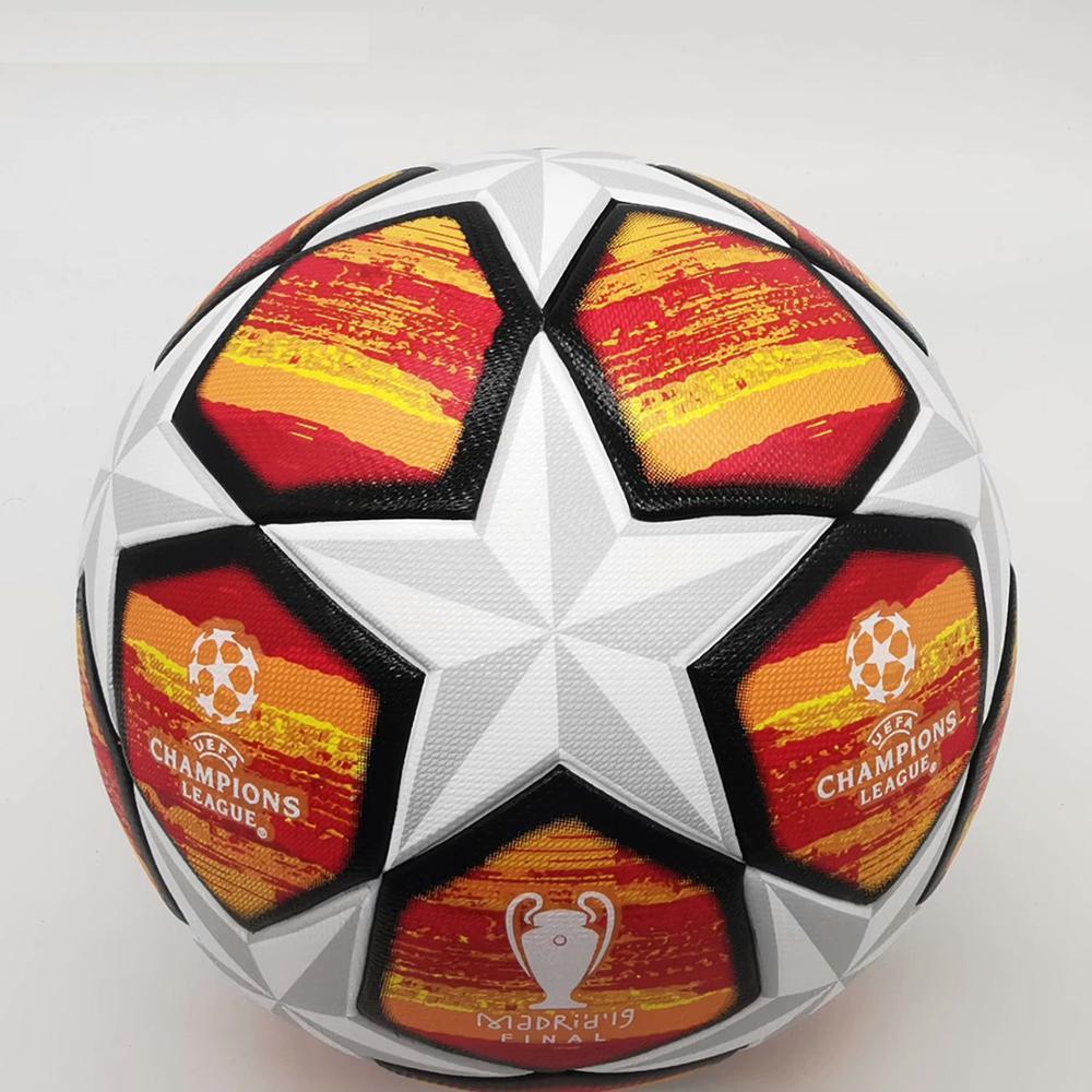 Высококачественный футбольный мяч 5 новейший материал тренировочный спортивный мяч размер качественные Футбольные Мячи Лиги полиуретан м...