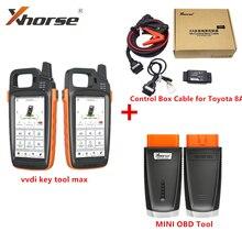Xhorse VVDI ключевой инструмент MAX автомобильный ключевой программист с VVDI 8A Управление кабельного телевидения для Toyota 8A все ключи потерял адаптер мини OBD ящик для инструментов