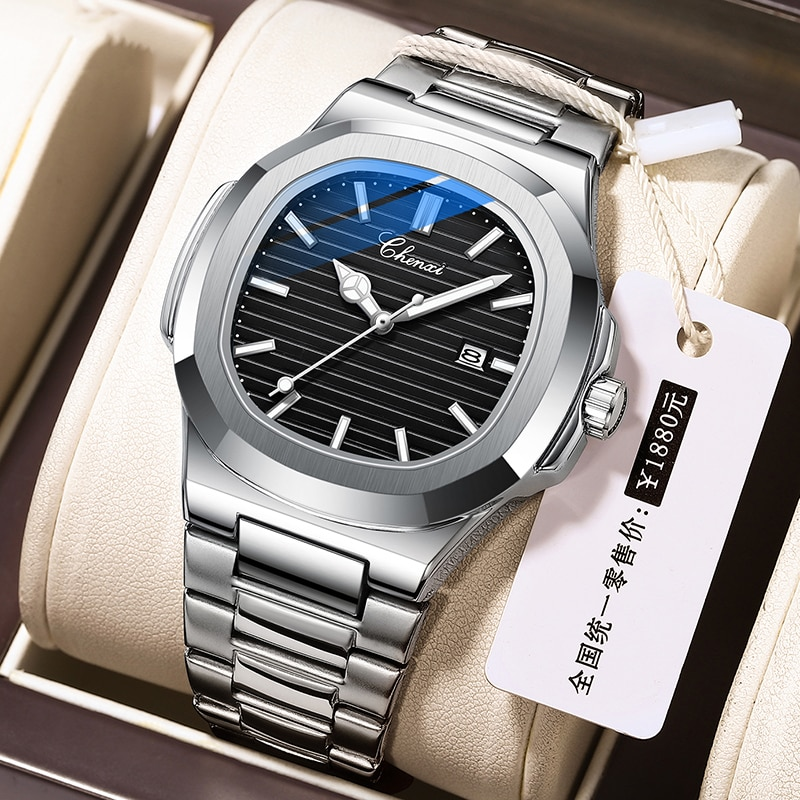 2021 New Fashion Classic Men Watches CHENXI Stainless Steel Sports Casual Quartz Watch For Men Water