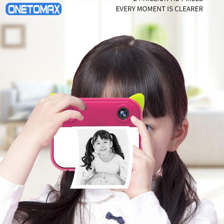 الطفل التعليم المبكر كاميرا صورة فيديو هدية رقمية لعبة ذكية صغيرة للطباعة HD بكسل بولارويد
