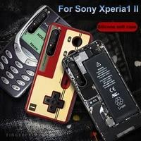 Silikon coque Fur Sony xperia1 II fall Fur Sony 1 II fall retro kamera telefon Painted weiche TPU telefon fall fur Sony xperia 1 II