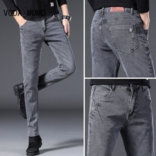 Men Jeans Slim Fit Skinny Denim Jeans Designer Elastic Straight Jeans Stretch Trousers Jeans Yong Me