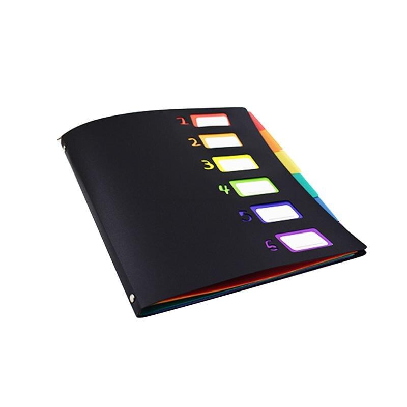 Carpeta de archivo A4 de Color arcoíris con expansión de plástico, carpeta de acordeón, organizador de documentos de papel para uso didáctico de oficina 1 unidad