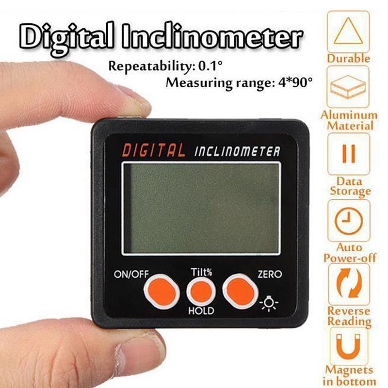 Digital Protractor 4x90° Magnetic Base Digital Protractor Tools Gauge Level Angle Finder Inclinometer инструменты