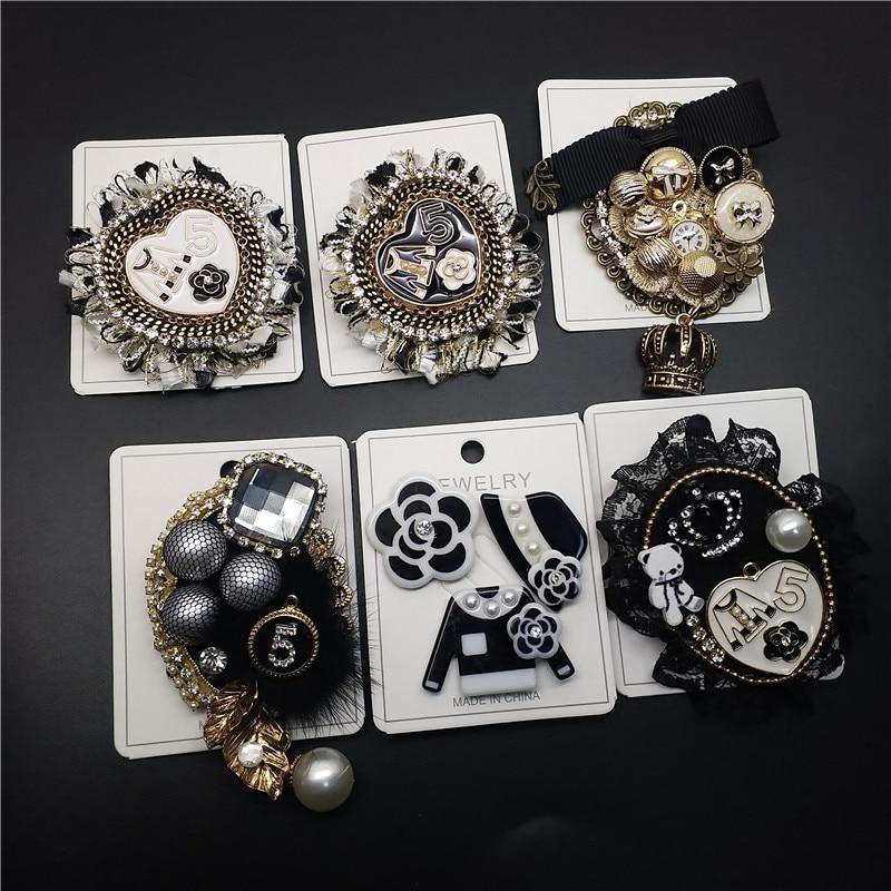 Cx-shirling mezcla de estilos perla vintage famosa marca de lujo diseñador broches de joyería Broach para las mujeres suéter vestido