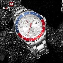 NAVIFORCE Men's Watch Top Luxury Brand Fashion Leather Watch Men's Quartz Calendar Stainless Steel W