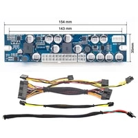 12v 300w dc dc atx peak psu atx switch mining psu 24pin mini atx pc power module supply for computer