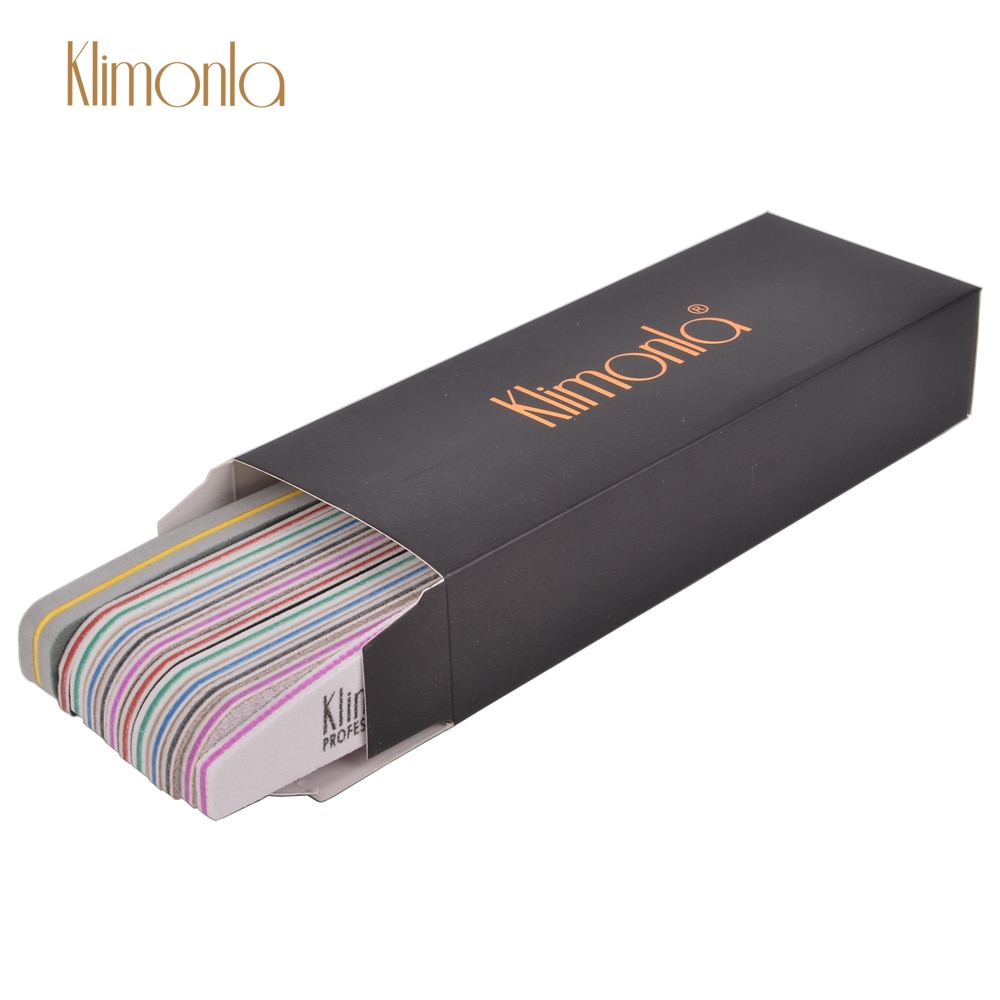 12Pcs/Set Nail File Sanding Mix Grit Buffing Block Nail Art Salon Pedicure Kits Tip Black Box Design
