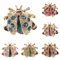 small ladybird colorful crystal rhinestones brooch pins for women or girls jewelry