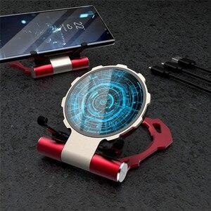 Складное зарядное устройство Tkey со светодиодной подсветкой, держатель для телефона для iphone 12 Pro Max Xiaomi Type C USB QI, подставка для быстрой беспроводной зарядки
