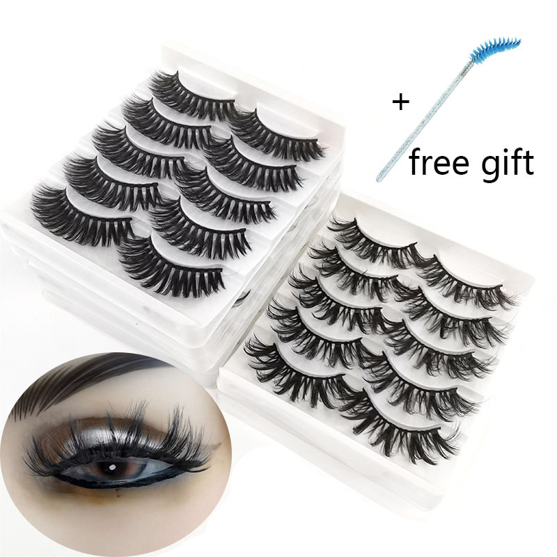 2021 3D Mink Lashes Wholesale Artificial Beauty Natural Fluffy Eyelashes Wispy Lashevolume Tdance Cosplay Makeups Glue for False
