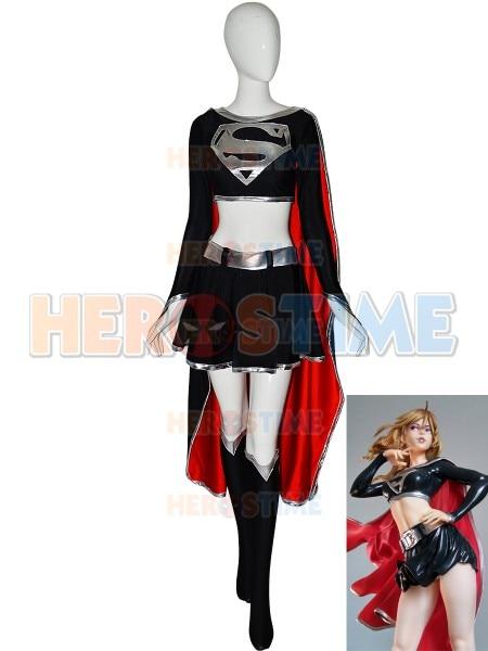 الظلام فتاة تأثيري حلي البدلة دنة Supervillain زي تأثيري فستان هالوين ازياء للنساء