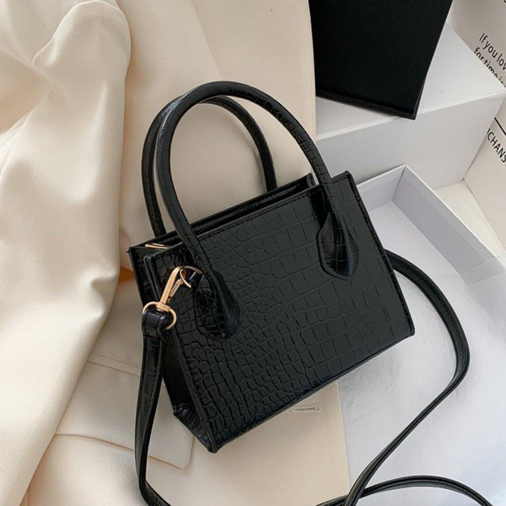 Small Women's Tote Bag Fashion Korean Sling Bag Retro Fashion Shoulder Bag Alligator Pattern Girls Handbag