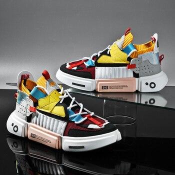 Autumn Fashion Colourful Men's Luxury Sneakers Trending Men Casual Shoes Hot Sale Breathable Chunky Shoes Men Zapatillas Hombre