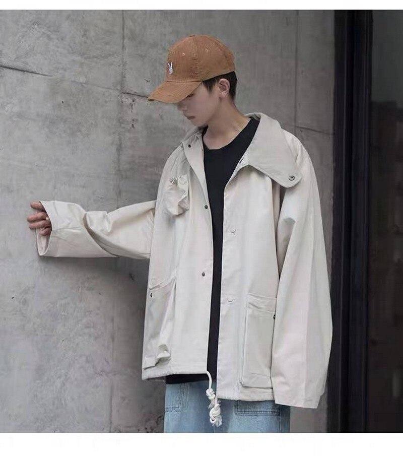 Мужские топы 2020 года, куртка-карго, мужские новые молодежные популярные куртки для инструментов, Модный повседневный однобортный Топ с неск...