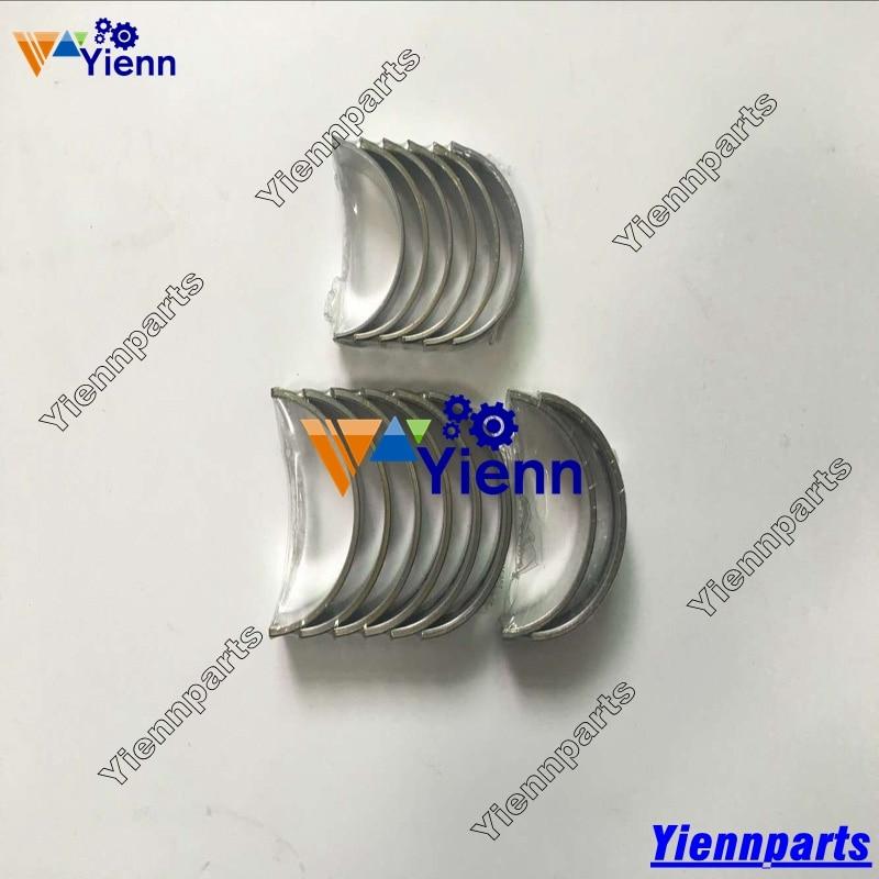For Yanmar 2TNE66 Crankshaft Main & Connrod Bearing Set Mini Tractor Excavator Diesel Engine Repair Parts