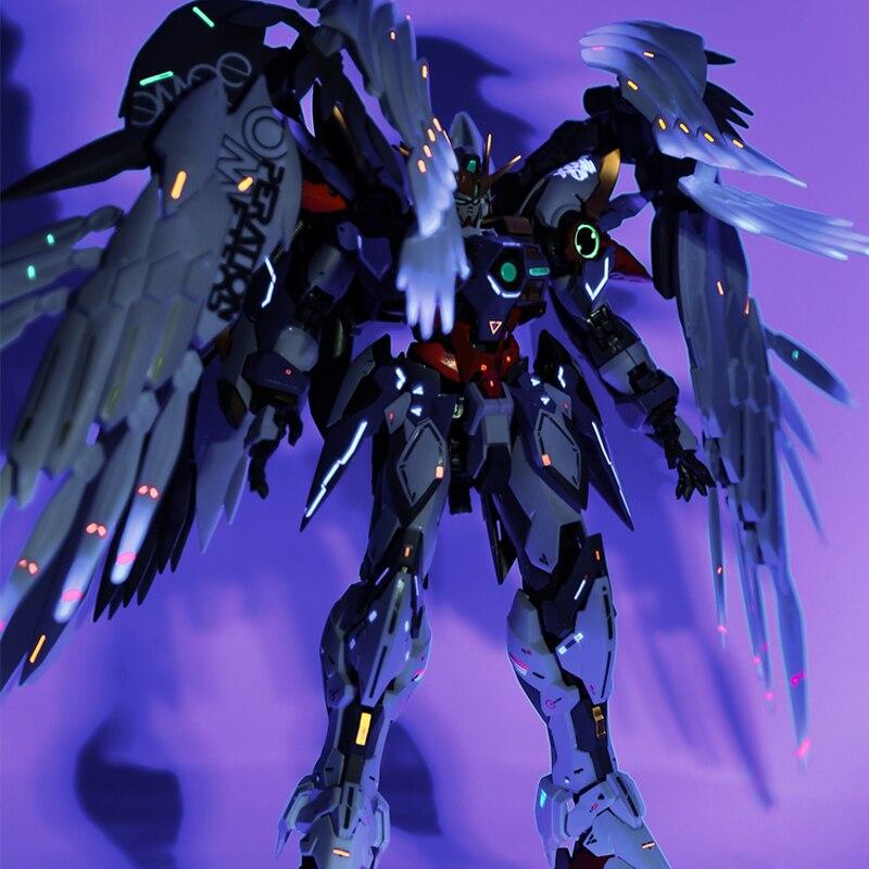 Daban 8820 hirm 1/100 w-gundam zero custoassembly modelo mudança de cor por spray figuras de brinquedo de ação presentes das crianças