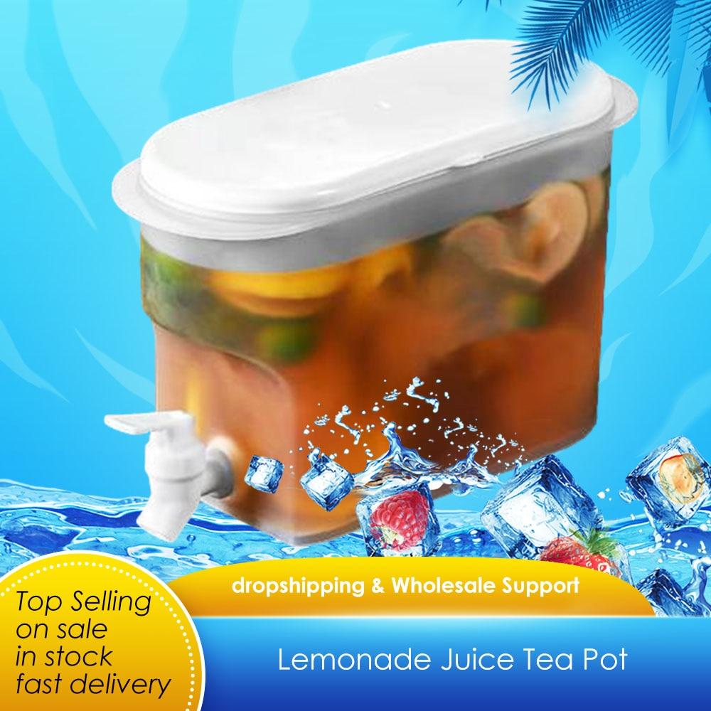 Fruit Cool Water Pitcher Summer Ice Water Infuser Kettle Id Water Carafe Jug Ice Tea Lemonade Juice