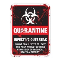 hot hot reflective zombie warning quarantine infected area caution car sticker and decals trunk decorative 1612cm