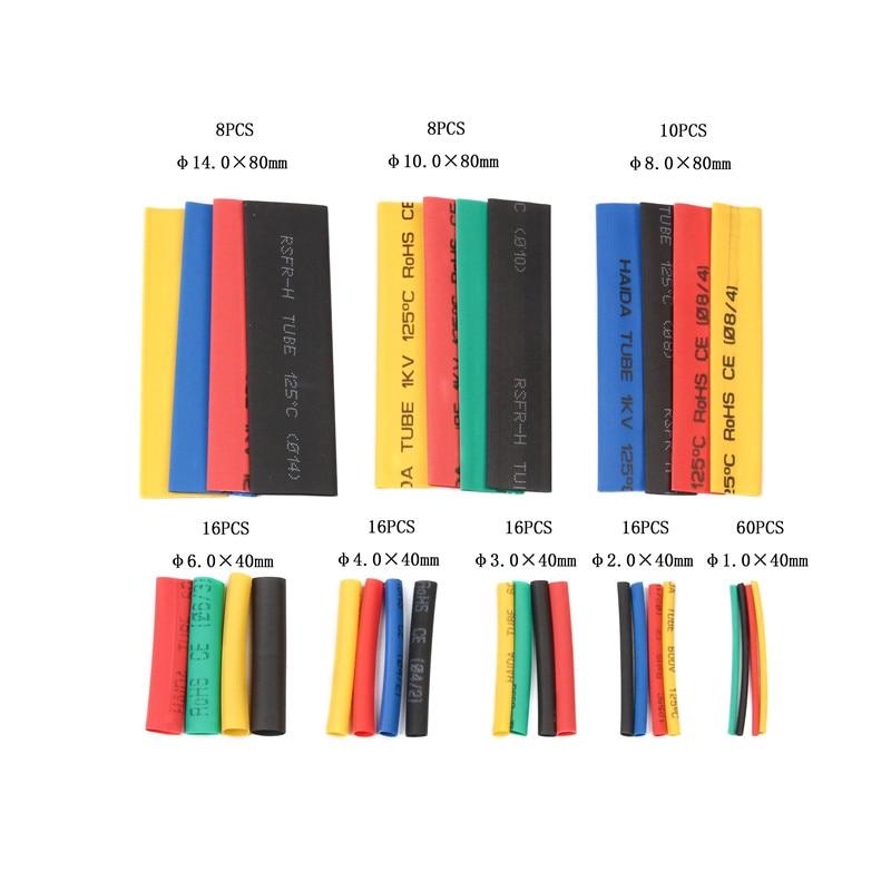 Diverse 164-delige set polyolefine krimpkous krimpkous voor draad en - Gereedschapssets - Foto 2
