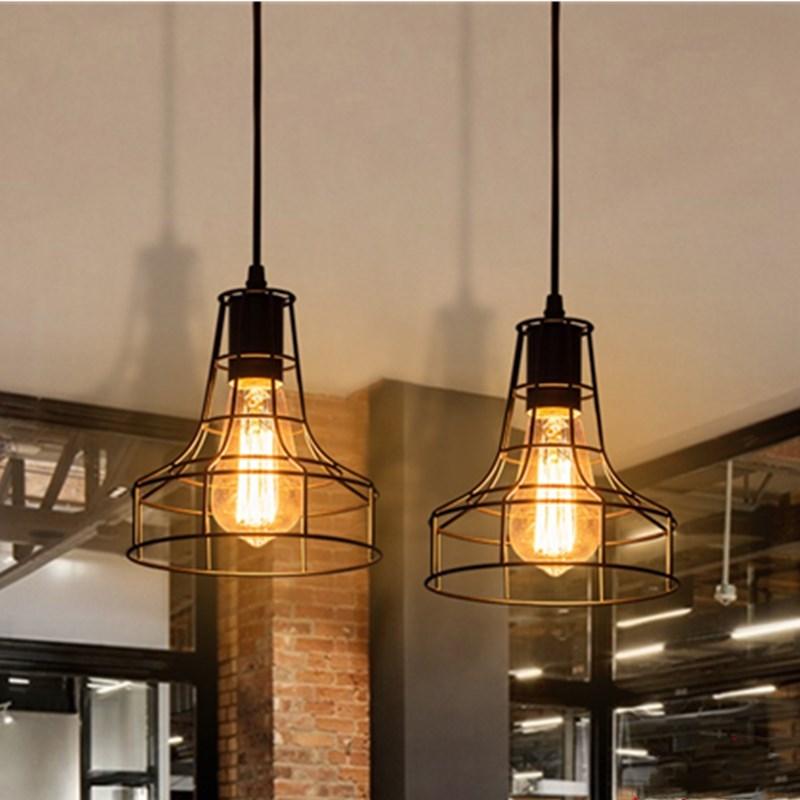 مصباح معلق من الحديد المطاوع على الطراز الصناعي LED ، مصباح علوي حديث على الطراز الصناعي ، مثالي للدور العلوي ، مقهى ، شرفة ، بار