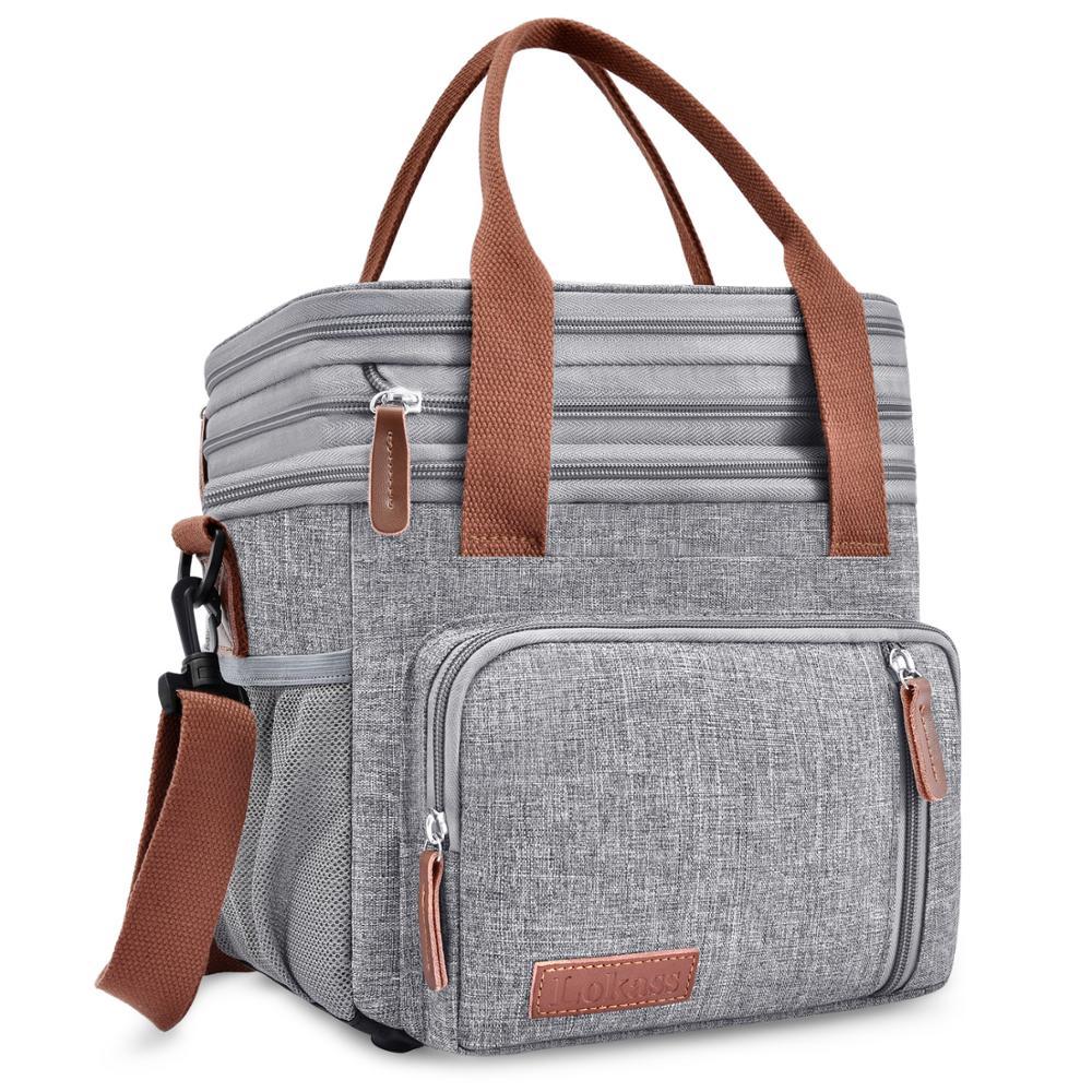 Nueva Bolsa nevera de doble cubierta, bolsa de hielo portátil para Picnic, bolsa térmica para comida, bolsas de hombro para nevera de coche, koeltas