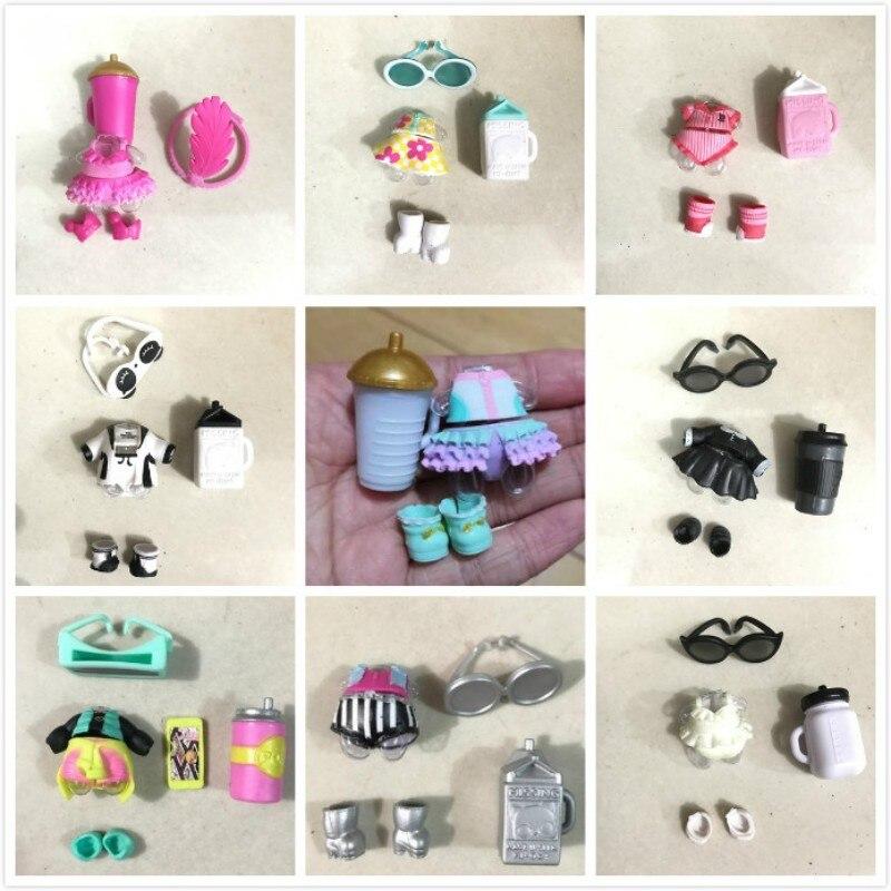 1 Juego de accesorios para botella de gafas LiL clothes, accesorios para zapatos, a la venta, Original colección de muñecos, triangulación de envío