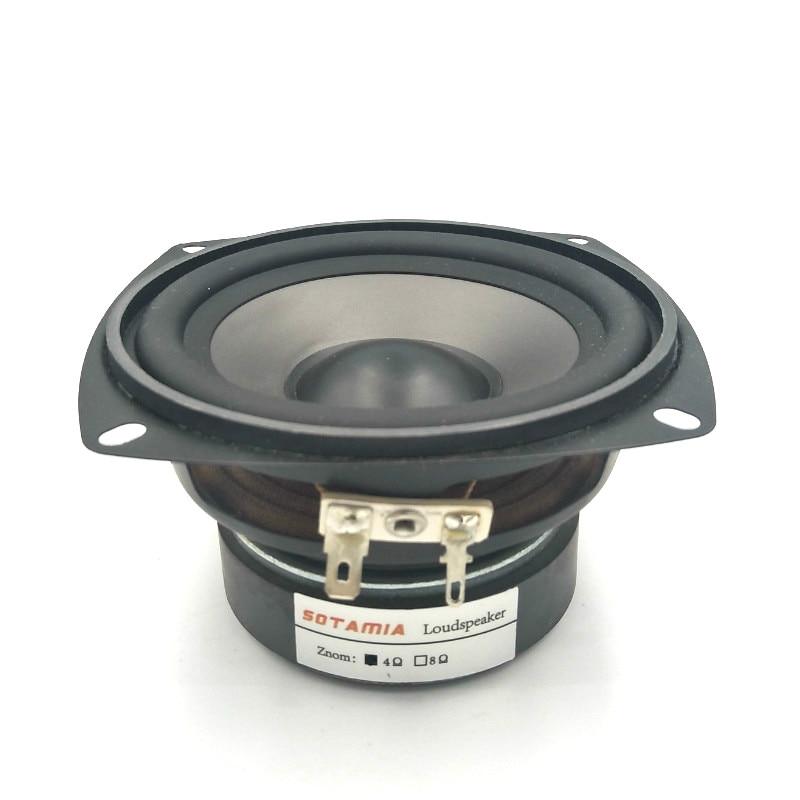 SOTAMIA 1 Pza 4 pulgadas de rango medio woofer bajos controlador de altavoz de sonido 4 Ohm 30W PP impermeable altavoz DIY inicio Audio música altavoz