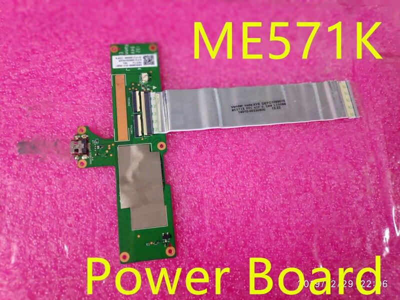 لوحة طاقة أصلية me571k usb لـ Asus Google Nexus 7 2nd Gen, 2013 ME571K K008 K009 مع كابل 14010-00330800 fpc 42p اختبار OK