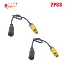 Câble dalimentation adaptateur femelle universel XT60 à cc 5.5/2.1mm pour lunettes Fatshark Skyzone Aomway