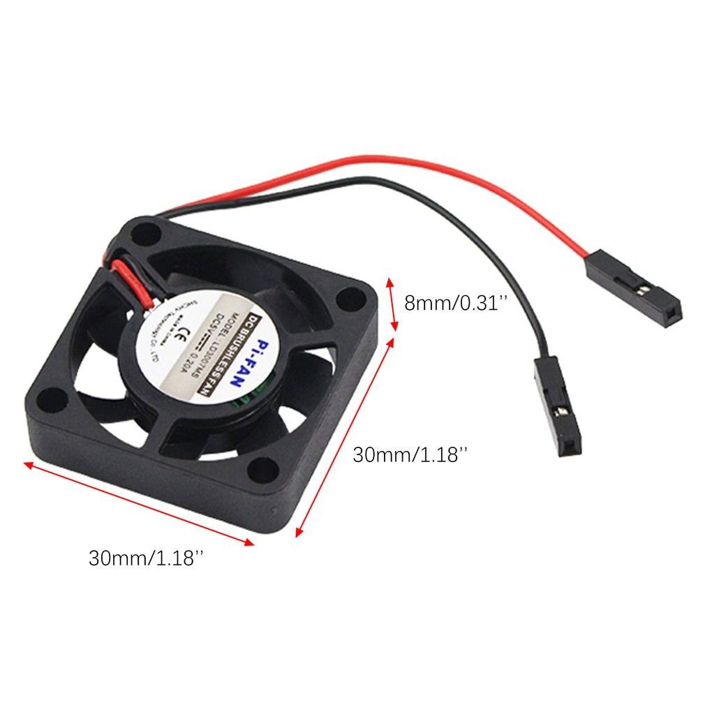 Купить с кэшбэком New Raspberry Pi 4 B CPU Fan Adjustable 5V 3.3V Cooling Fan for Raspberry Pi 4 Model B / 3B+ /3B  for Retroflag NESPi CASE+