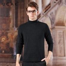 UCAK Brand Polyester Base Shirt Men  2020 Fashion Trend Turtleneck Casual Spring Autumn Streetwear New Arrival  T-shirt U1036