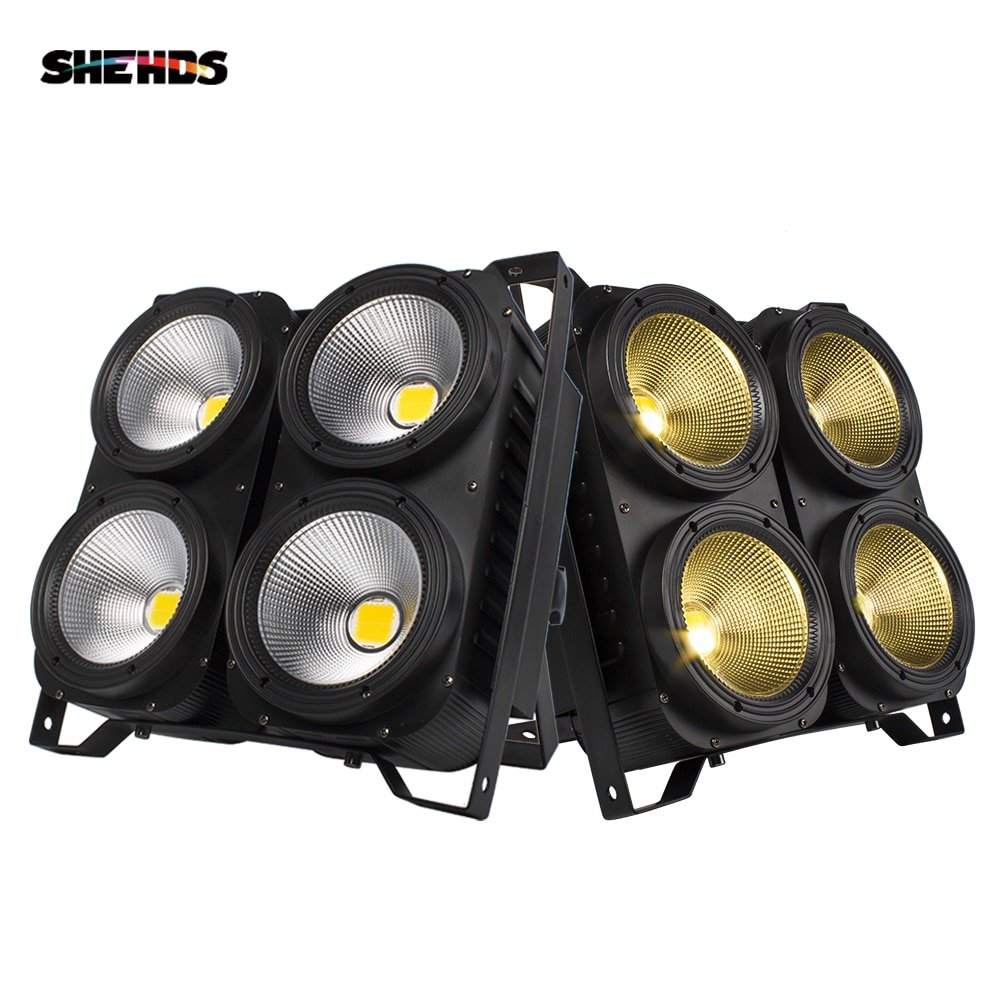 2PCS 200W/400W COB Combination 4x100W 2in1 Led Blinder Light Warm White Cool White Audience Stage Studio Lamp DJ Garden Floor