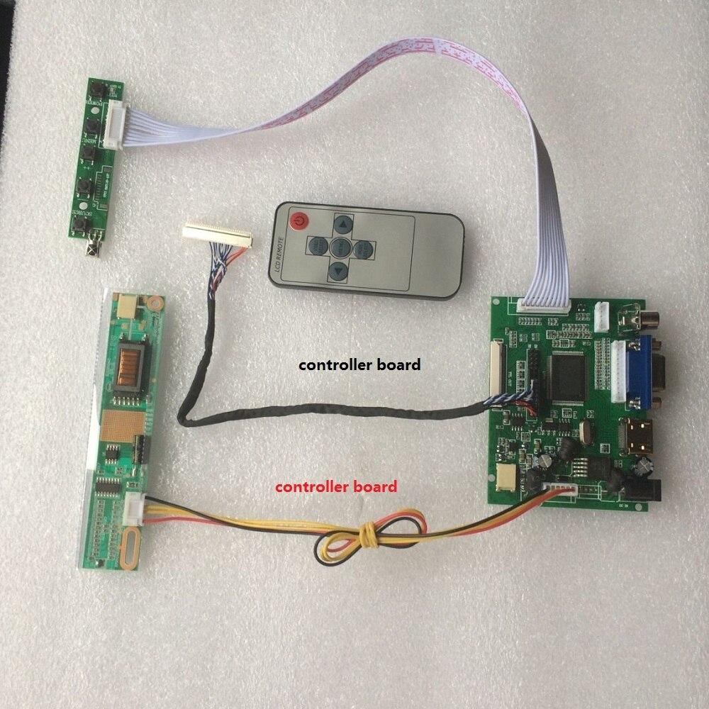 """Funciona para 15,4 """"1280 × 800 N154I3/B154EW01 pantalla LCD mando a distancia panel pantalla controlador kit 2AV LCD VGA HDMI"""