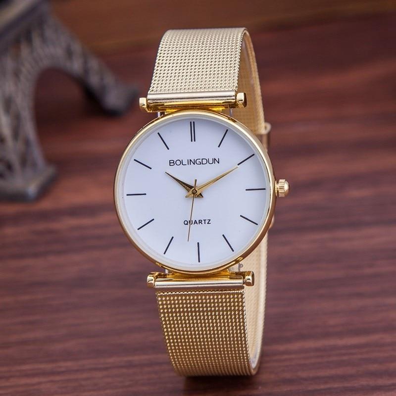 Luxury Brand Watch Women Fashion Rose Gold Quartz Watches Casual Metal Mesh Stainless Steel Dress Wristwatches Hot Sale Reloj