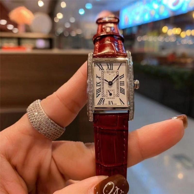 Reloj de Año Nuevo 2020 clásico elegante reloj de moda simple de cuero de marca reloj de cuarzo analógico regalos para mujer