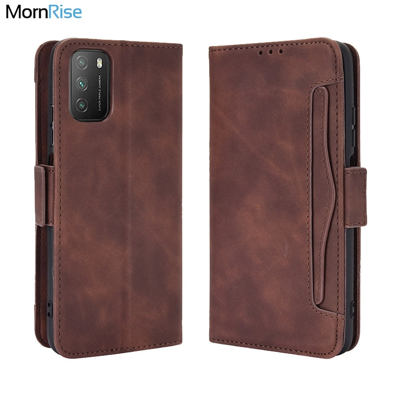 For Xiaomi Pocophone M3 Wallet Case Magnetic Book Flip Cover For Xiomi MI Poco M3 Card Photo Holder